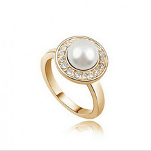 AliExpress selling high-end jewelry simulated pearl jewelry rings – love life, 1281-33 (4 colors into)