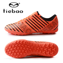 цена на TIEBAO Soccer Shoes TF Turf Soles Breathable Outdoor Sneakers For Men Football Training Boots Unisex Football Shoes