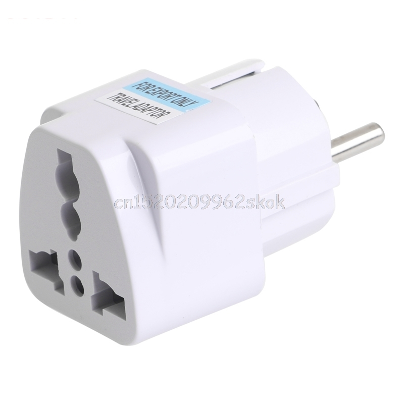 1pcs Universal UK US AU To EU AC Power Socket Plug Travel Charger Adapter Converter #H029# power adapter eu uk us plug socket fast charging 8 usb ports display travel ac dc power adapter charger socket for xiaomi iphone