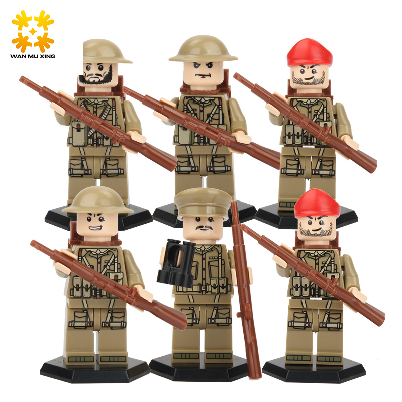 DIY World War II North African Campaign United Kingdom Eighth Army Blocks Military Building Blocks Education Toys