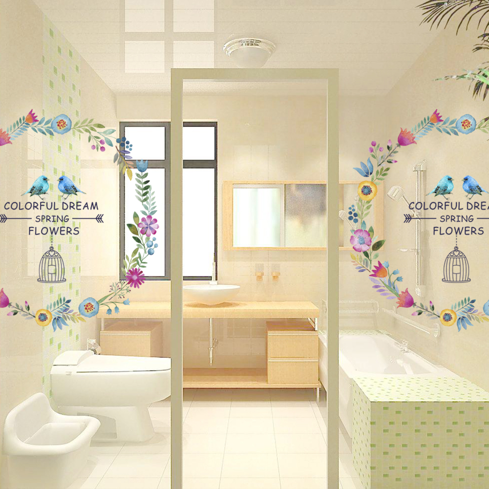 Colorful Dream Spring Flower Indian wall stickers TV Background Sofa ...