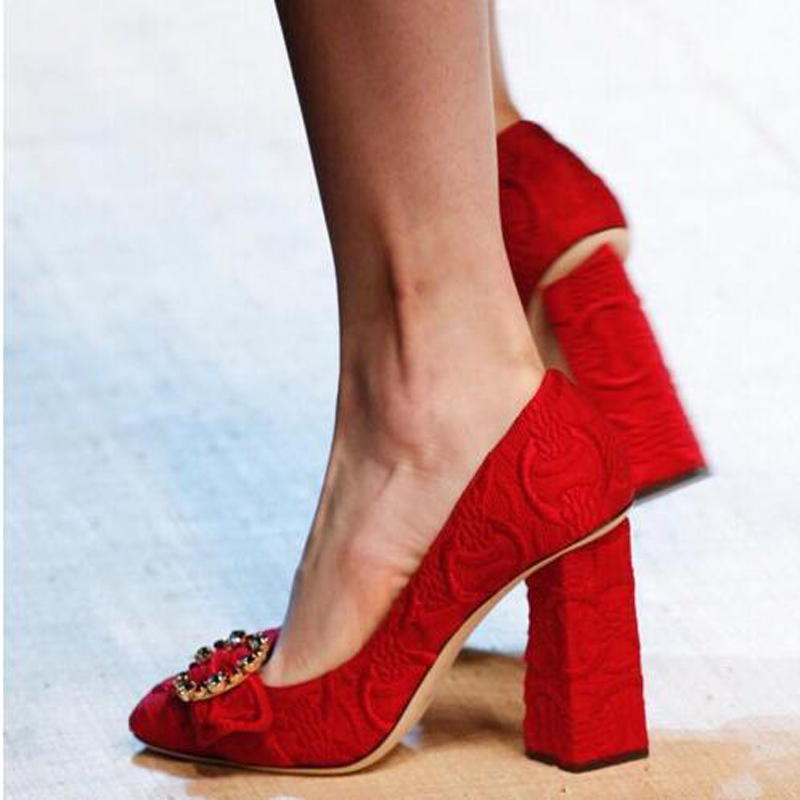 Compare Prices on Red Chunky Heels- Online Shopping/Buy Low Price ...