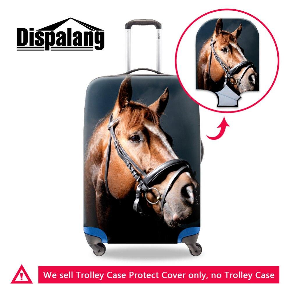 Животное лошадь печати пыле прочный эластичный Чемодан Защитная крышка для 18-30 дюймов Чемодан Обложка Мода Туристические товары