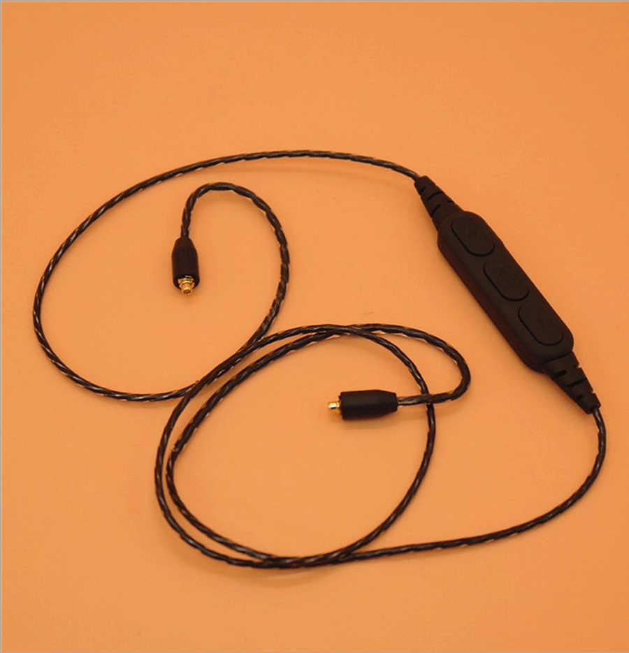 MMCX słuchawki Bluetooth kabel adaptera Bluetooth dla Shure SE215 SE315 SE535 SE846 UE900 słuchawki bezprzewodowe kable z mikrofonem