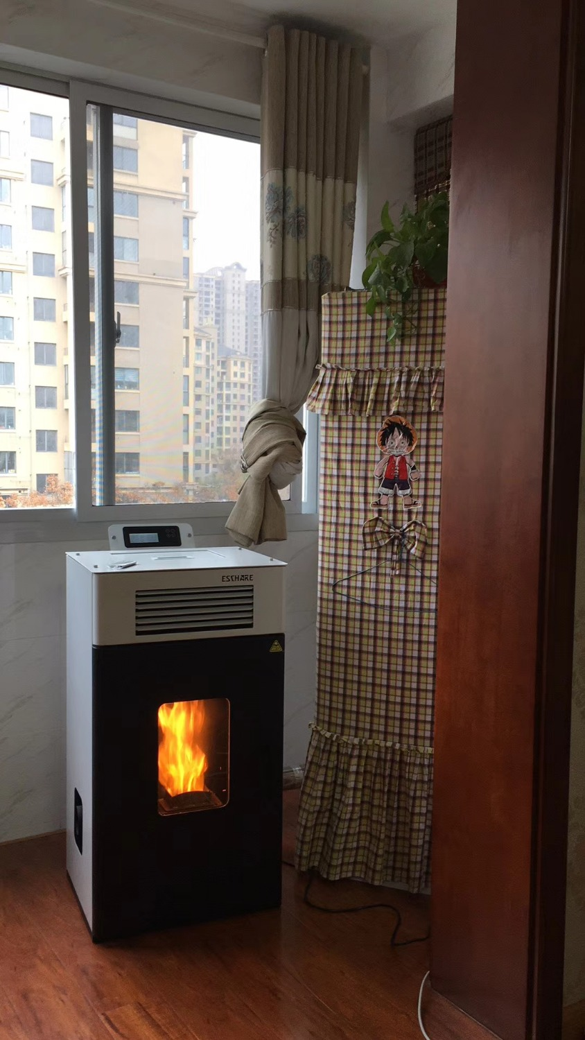 family use Mini Biomass Hydrologic cycle pellet stove 6 kw- 30 kw image