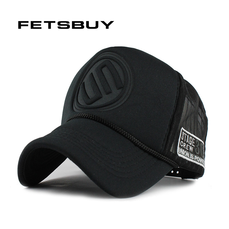 FETSBUY Summer Male And Female Trucker Hats Fitted Casual Hip-hop Street  Mesh Hat Casquette 94cac3416c17