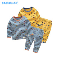The Autumn Of 2017 Cartoon Baby Underwear Set Small Children Home Furnishing Cotton Clothing Long Johns