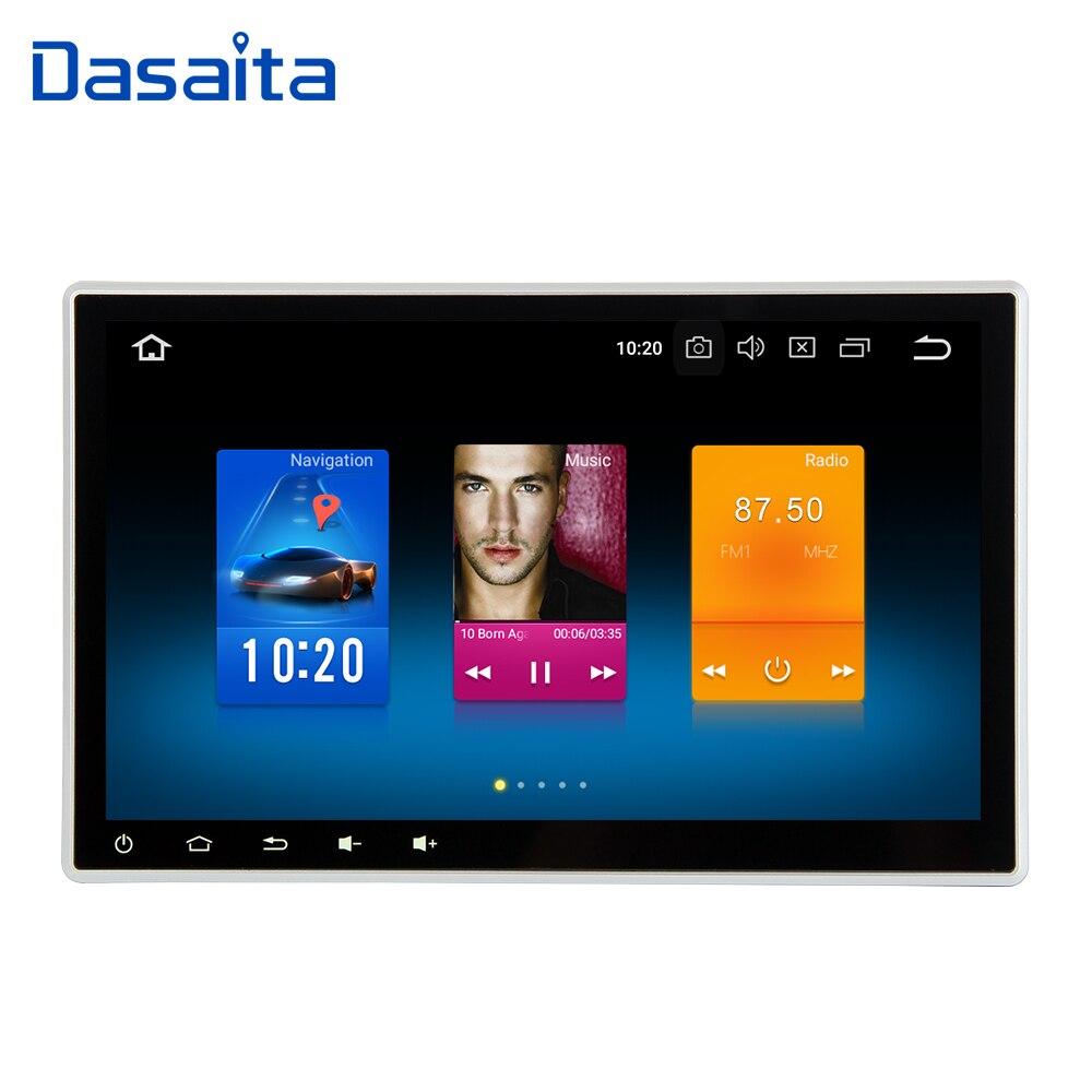 Dasaita 10.2 Android 8.0 Do GPS Do Carro Jogador de Rádio para 4 gb + 32 2 din Universal com Núcleo octa gb Auto Multimedia Unidade Central Estéreo