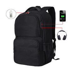Ultra Large Backpacks Men Suprebig capacity USB headphone coded bags Pack male Travel Schoolbags 17.3 inch laptop Commuting