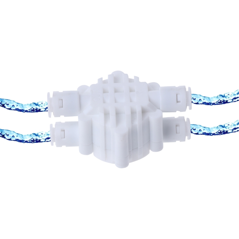 4 Way 1/4 Port Auto Shut Off Valve For RO Reverse Osmosis Water Filter System JAN07 Dropship