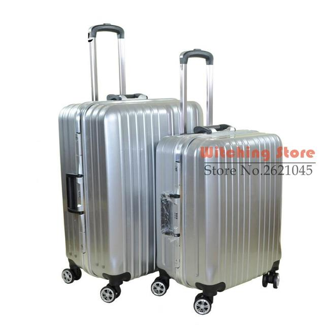 22 INCH  20222426# 22 trunk universal wheel password travel aluminum alloy box #EC FREE SHIPPING