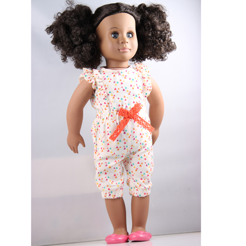 18inch American girl black hairdoll +our generation outfits+pink shoes birthday Christmas gift  for girls  free shpping AGD03