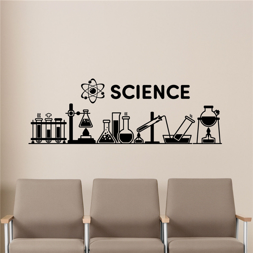 Home Decor Classes: Science Wall Decal Chemistry Classroom Decor Education
