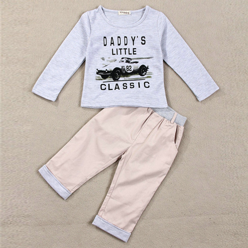 Spring Fall Children\'s Sets Baby Boy Long Sleeve Outfits Children Clothes 2016 new boy s suit children s wear boy s spring cuhk children s chest letter suits fashion boy casual clothes boy sport sets