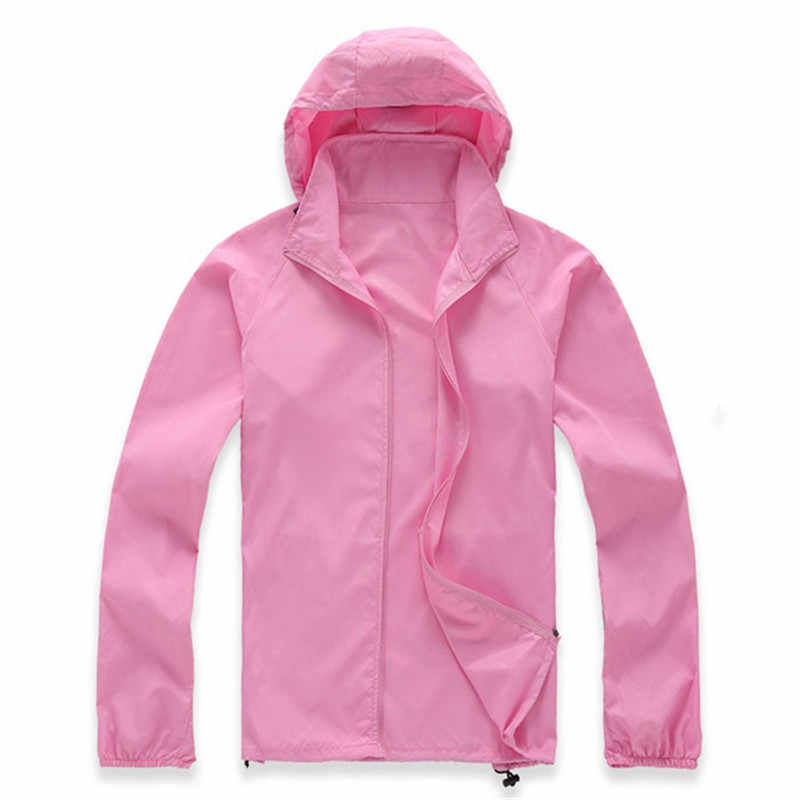 Revestimento Das Mulheres Trincheira Fina primavera Verão Homens Com Capuz Capa de Chuva Protetor Solar proteção UV À Prova de Vento À Prova de Chuva roupas de Trabalho Plus Size 2802