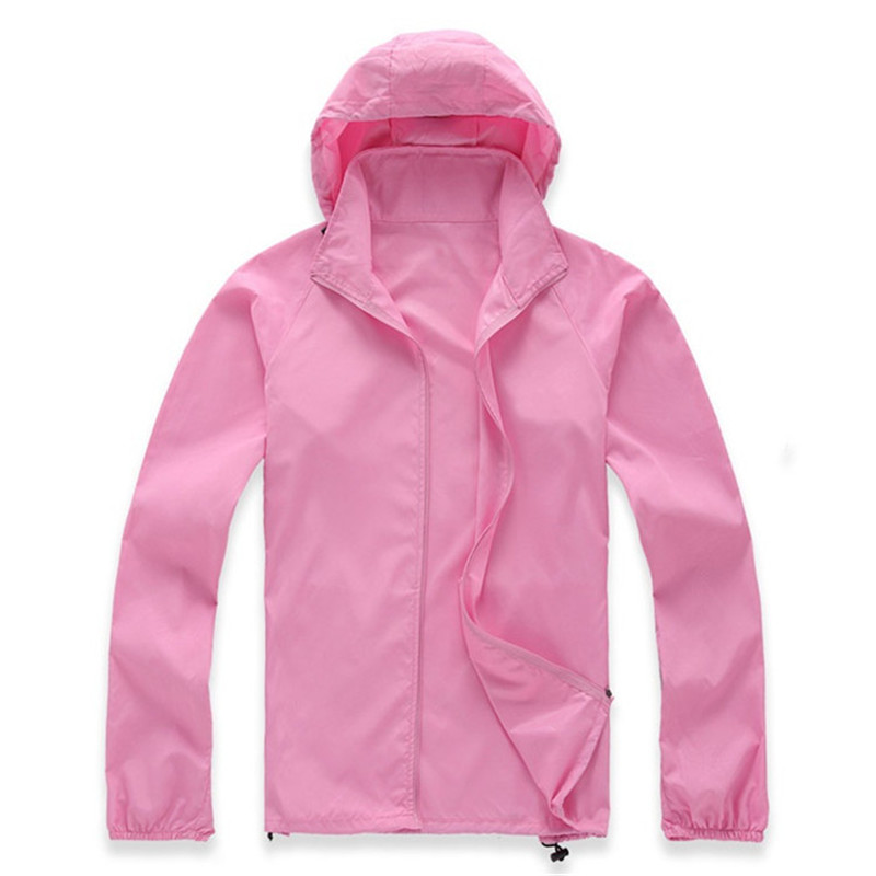 Spring Summer Thin   Trench   Coat Women Men Hooded Raincoat Sunscreen UV protection Windproof Rainproof Work clothes Plus size 2802