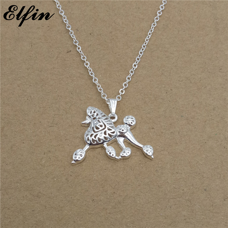 Elfin Wholesale Trendy Poodle Necklace Gold Color Silver Color Dog Jewellery Caniche