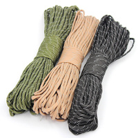 Paracord Parachute Cord Lanyard Rope 7 Strand 100FT Climbing Camping Survival Equipment Tent Rope Multipurpose Rope