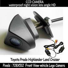 Беспроводной для пзс-hd парковка автомобилей в передний для Toyota Prado горец ленд крузер установлен в автомобиль логотип