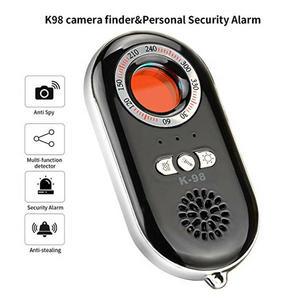 K98 Anti-Spy kamera ukryta sygnału RF Bug Detector mini kamera bezprzewodowa fal radiowych sygnału wyszukiwarka urządzeń GSM detektor laserowy (czarny)