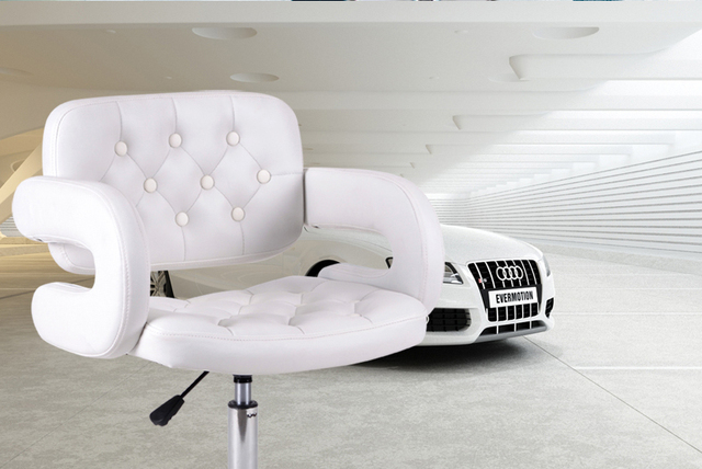 Femelle Chaise Salon De Coiffure Beaut Manucure Magasin Selles Dtail Blanc Rouge Vert Noir PU Sige