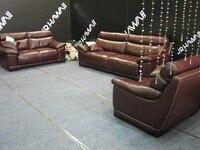 Красный цвет Кожный диван высококачественный кожаный диван Новинка 2015 гостиной диван 1 + 2 + 3 местный диван перо доставка в морской порт