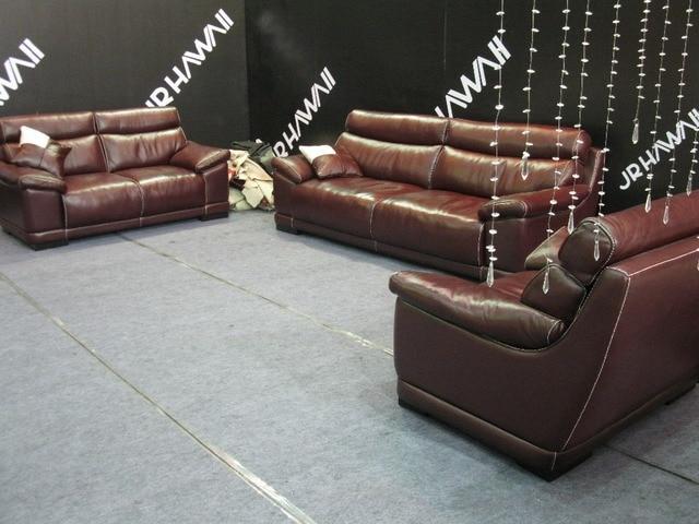 US $1044.05 5% OFF|Rot farbe Dermal sofa hochwertigem leder sofa 2015 neue  wohnzimmer sofa 1 + 2 + 3 sitzer feder sofa verschiffen zum hafen in Rot ...