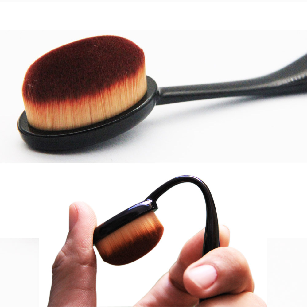 1pcs Portable Soft Face Toothbrush Makeup Face Nose Blackhead Cleaning Powder Concealer Cosmetic Mini Brush pincel maquillaje 1pcs brushegg cleaning makeup washing silicone glove scrubber board 1pcs toothbrush powder brush cosmetic clean tools set