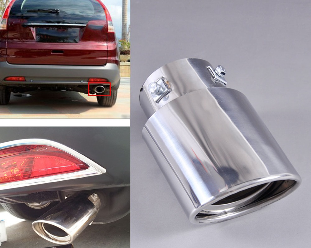 DWCX New 1x CHROME STAINLESS STEEL EXHAUST TAIL REAR MUFFLER TUBE PIPE TAILPIPE for Honda CRV CR-V 2007 2008 2009 2010 2011