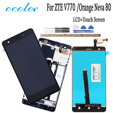 Ocolor สำหรับ ZTE ใบมีด V770 จอแสดงผล LCD และ Touch Screen Digitizer กรอบ + เครื่องมือสำหรับ ZTE ใบมีด V770 สีส้ม Neva 80