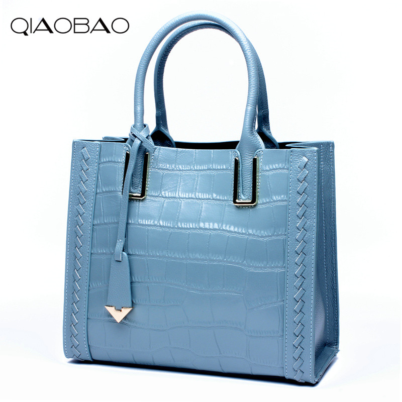 QIAOBAO 100% Lowest Price AND 100% Genuine Leather Bag Women Messenger Bags Females Bag Shoulder Bag Leather Totes Femininas qiaobao 2018 new korean version of the first layer of women s leather packet messenger bag female shoulder diagonal cross bag
