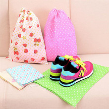 Portable Non-woven Shoes Bag Travel Storage Box Pouch Drawstring Anti-Dust Organizer Bag