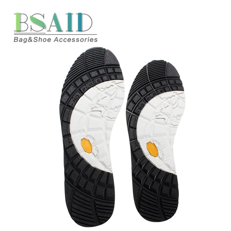 BSAID 1Pair Repair Shoe Sole, Glue Stick On Hard-Wearing Anti-Slip Full Outsoles Replacement DIY Mats Non-slip Rubber Protectors