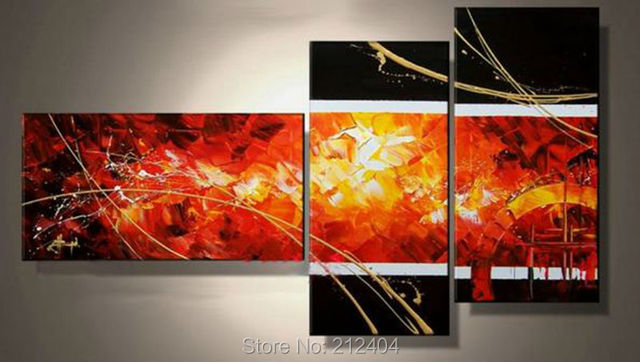 """Aliexpress.com : Buy """" Large Red Black Abstract Canvas"""