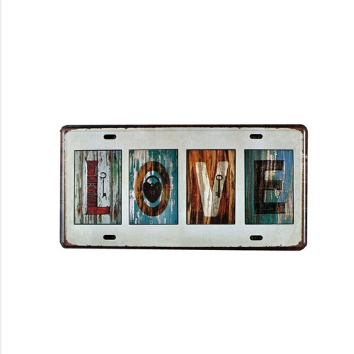 15x30CM LOVE Decorative Car Plate Tin Signs pub Bar home Wall Poster-in Door Plates from Home Improvement on Aliexpress.com | Alibaba Group  sc 1 st  AliExpress.com & 15x30CM LOVE Decorative Car Plate Tin Signs pub Bar home Wall Poster ...