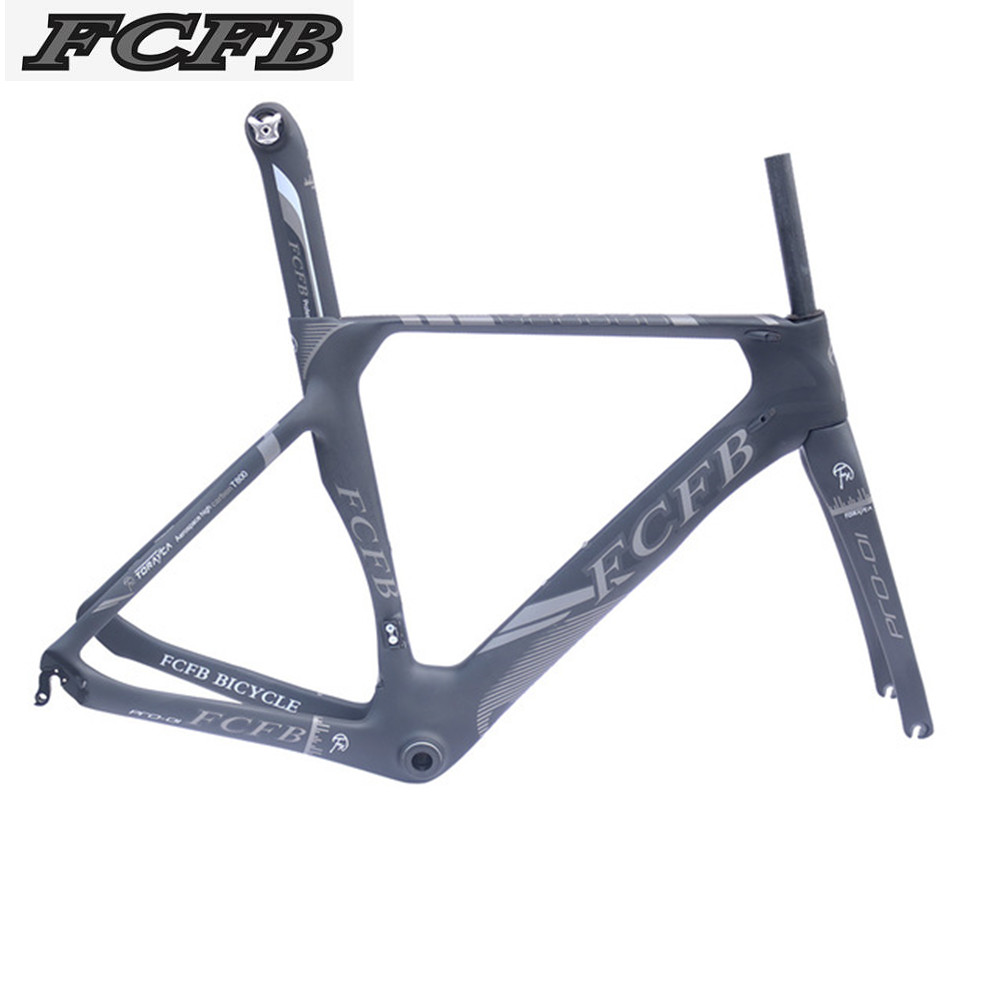 2017 FCFB T800 carbon road frame Carbon Road Bike Frame Di2 Mechanical 470/490/510mm frame fork stem saddle handlebar wheels 2018 t800 full carbon road frame ud bb86 road frameset glossy di2 mechanical carbon frame fork seatpost xs s m l og evkin