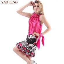 Hot Sale Nightgowns Sleepshirts Women Summer Style Nightdress Silk Bathrobe dress Sleepwear