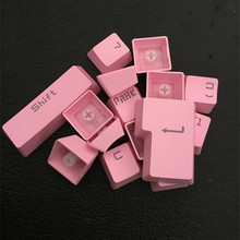 104 Keys OEM Profile Cherry MX Switches Mechanical Keyboard Keycaps ABS Pink Color Backlight Caps