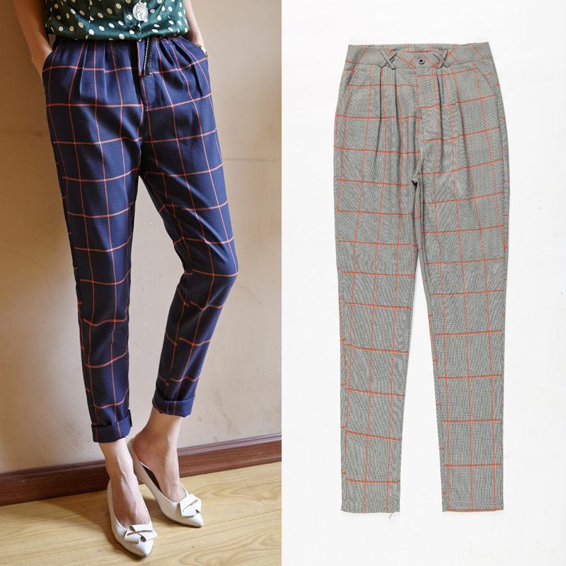 Popular Blue Plaid Pants-Buy Cheap Blue Plaid Pants lots from ...