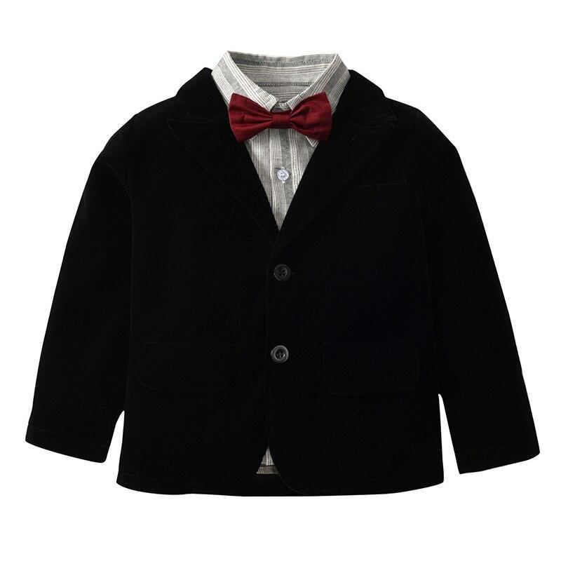 Jaqueta + Blusa + Calça Meninos Blazer Formais 3 Peças/set