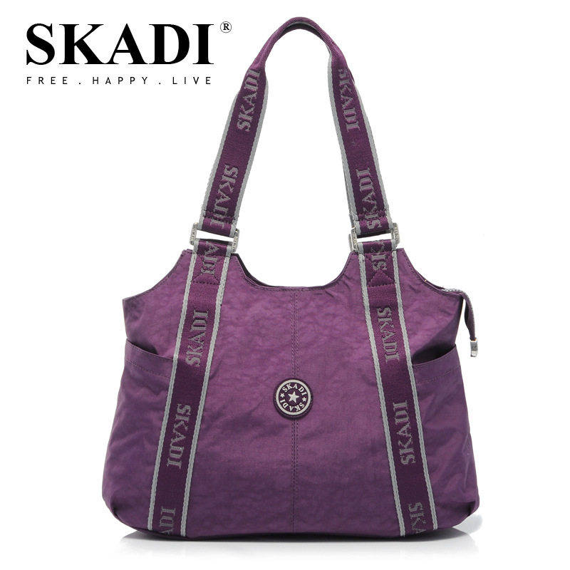 New Washing Pure Oxford Female Single Shoulder Bag Fashion Solid Crossbody Bags Women Handbags