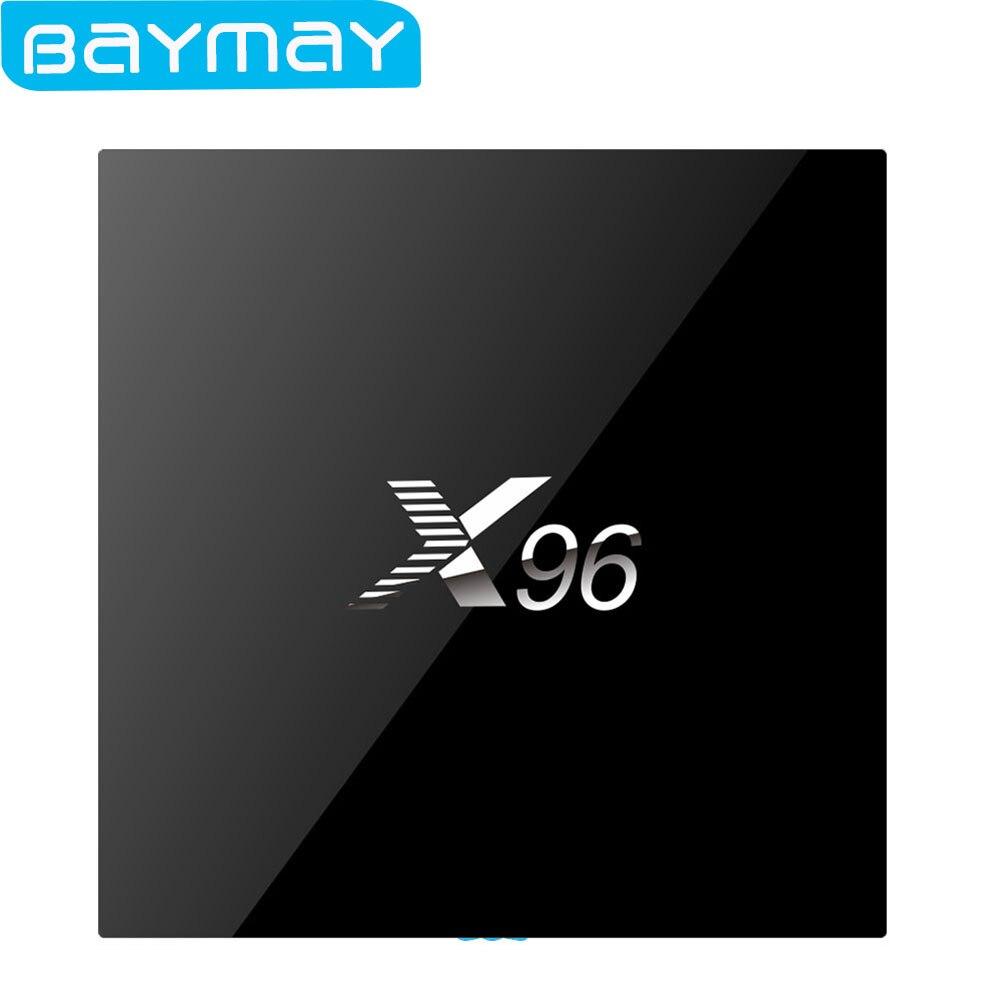 New Original X96 Android TV Box Max RAM 2GB 16GB Amlogic S905X Quad Core WIFI HDMI 2.0 4K 2K Smart Media Player Set top Box smart android 4 2 tv box quad core network media player 8gb ram 2gb ddr3 with wifi support google tv dlan miracast
