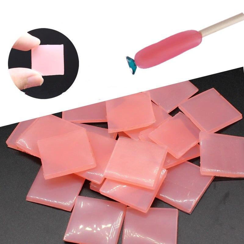 10pcs Nail Art Rhinestone Picker Gel Cube Gel Gem Picker Silicone Gel Picker Nail Tool