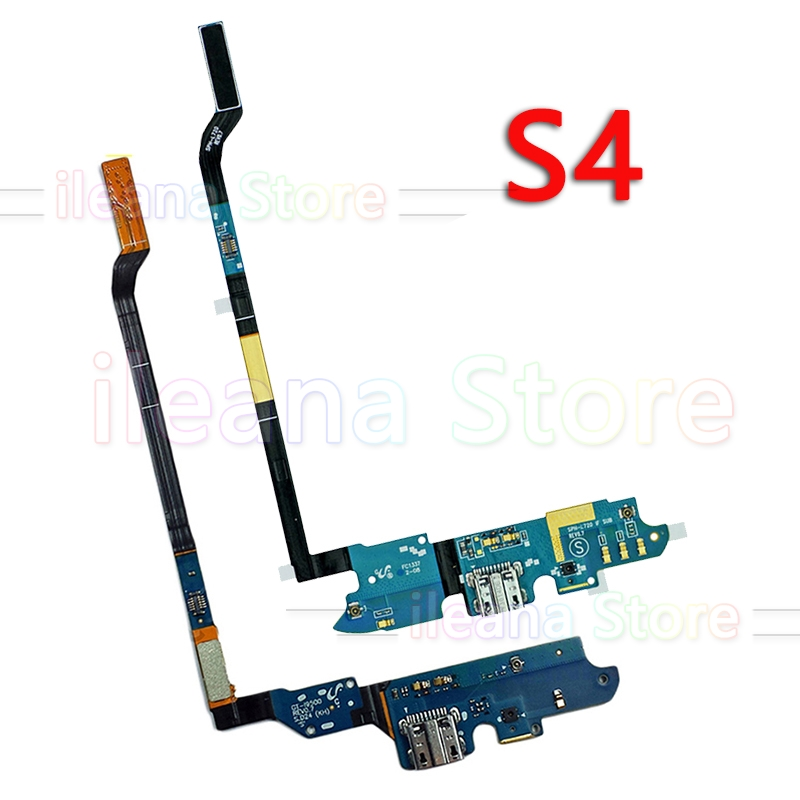 Original USB Charger Board Charging Port Connector Dock Flex Cable For Samsung Galaxy S4 I9500 M919 I337 I9505 4G I545 Mic Parts