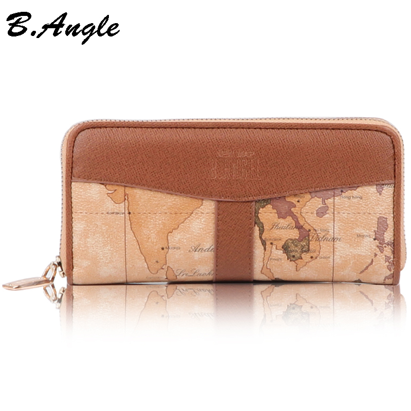 High Quality World Map Wallet Multifunctional Wallet Women Special