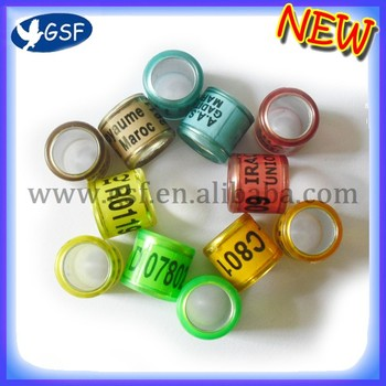 8mm racing pigeon rings aluminm with plastic rings for racing pigeon