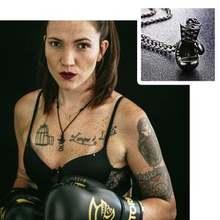Жесткая титановая сталь боксерские перчатки ожерелье из нержавеющей