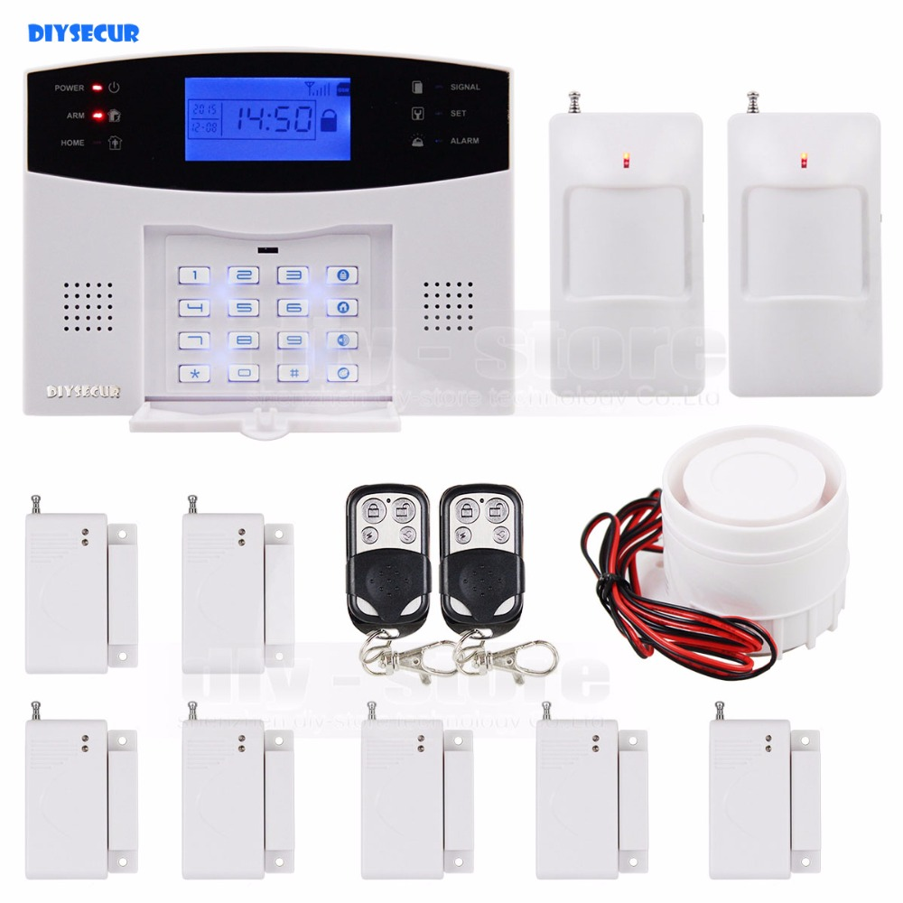 DIYSECUR Wireless GSM Home House Security font b System b font Long range Control Motion Sensor