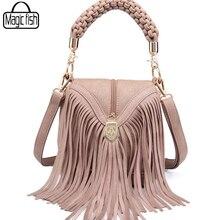 2018 Famous Brands Tassel Women Messenger Bags Casual Tote Simple Design Good Quality PU Leather Women Bag Ladies Clutch A1522/l