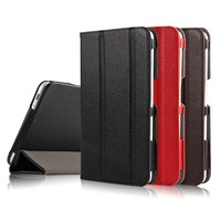 High Quality Genuiue Real Leather Stand Protective Cover Case For Huawei Mediapad Yougth M2 7 0